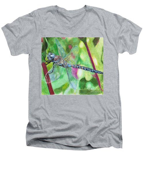 Blue Dragonfly Men's V-Neck T-Shirt
