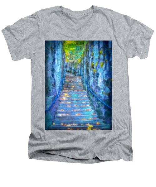 Blue Dream Stairway Men's V-Neck T-Shirt