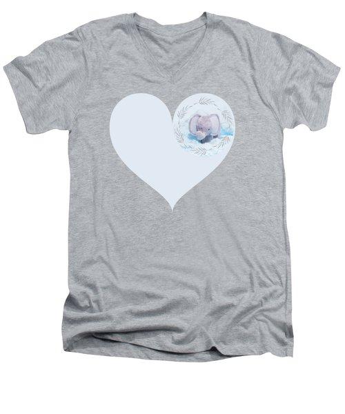 Blue Elephant Men's V-Neck T-Shirt