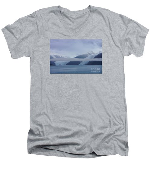 Blue Escape In Alaska Men's V-Neck T-Shirt