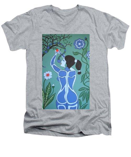 Blue Eve No. 1 Men's V-Neck T-Shirt