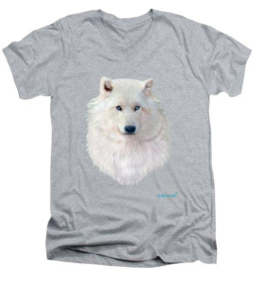 Blue-eyed Snow Wolf Men's V-Neck T-Shirt