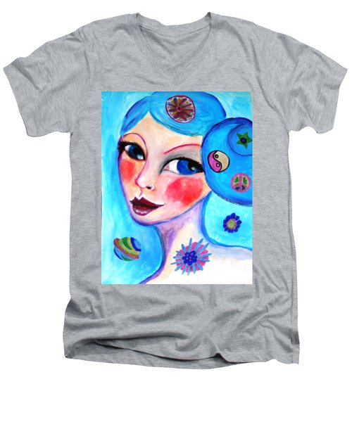 Blue Eyed Woman Men's V-Neck T-Shirt