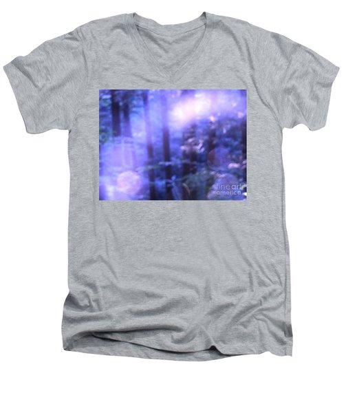 Blue Fairies Men's V-Neck T-Shirt by Melissa Stoudt