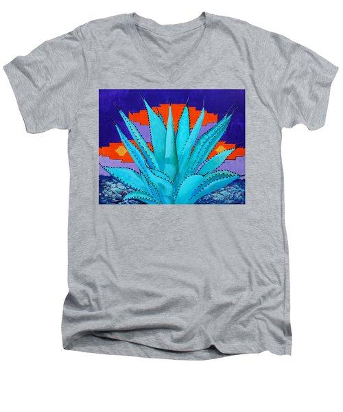 Blue Flame Companion 2 Men's V-Neck T-Shirt by M Diane Bonaparte