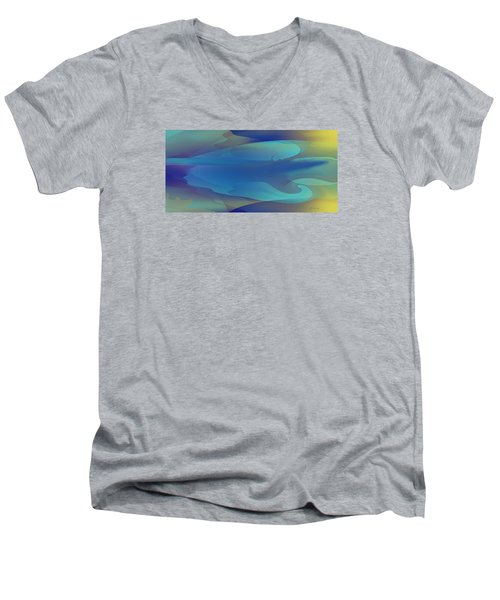 Blue Fog I Men's V-Neck T-Shirt by David Klaboe