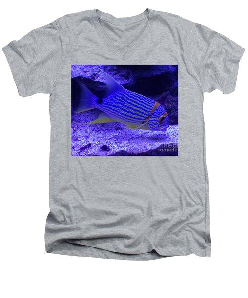 Blue Fish Groupie Men's V-Neck T-Shirt