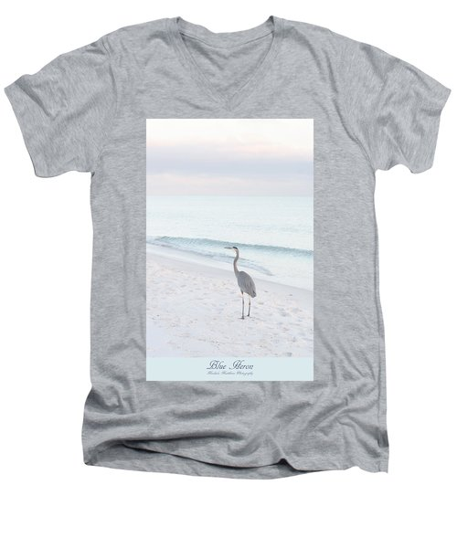 Blue Heron Men's V-Neck T-Shirt