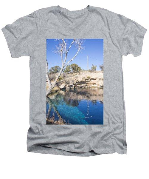 Blue Hole Men's V-Neck T-Shirt