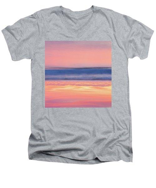 Apricot Delight Men's V-Neck T-Shirt by Az Jackson