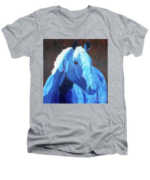 Blue Horse Men's V-Neck T-Shirt