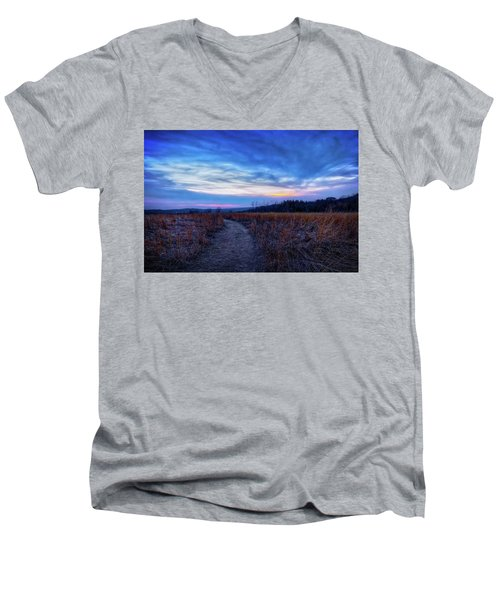 Men's V-Neck T-Shirt featuring the photograph Blue Hour After Sunset At Retzer Nature Center by Jennifer Rondinelli Reilly - Fine Art Photography