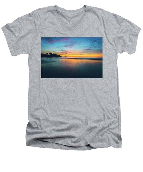 Blue Hour At Carmel, Ca Beach Men's V-Neck T-Shirt