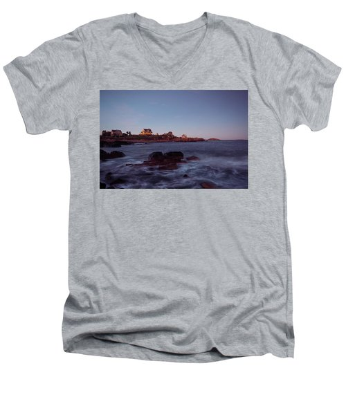 Blue Hour In Gloucester Men's V-Neck T-Shirt