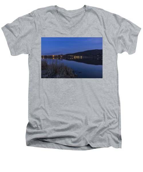 Blue Hour Retreat Meadows Men's V-Neck T-Shirt