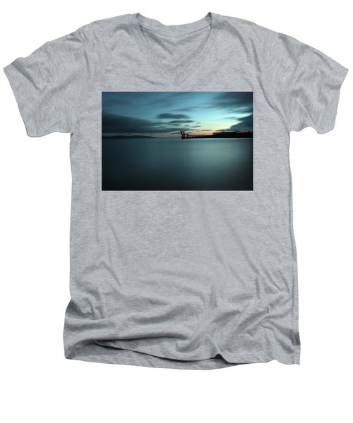 Blue Hour Salthill Men's V-Neck T-Shirt