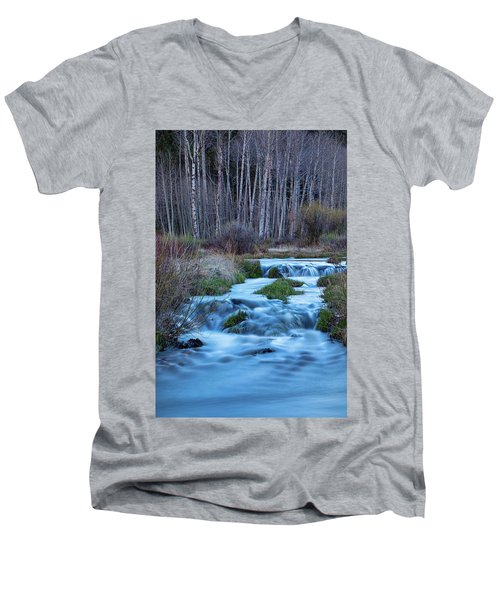 Blue Hour Streaming Men's V-Neck T-Shirt by James BO Insogna