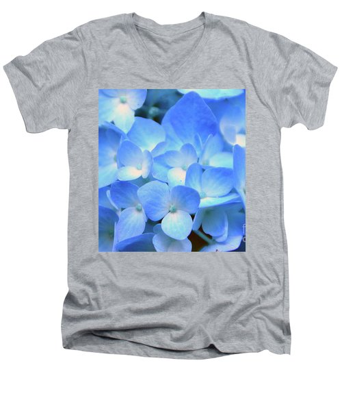 Blue Hydrangea Men's V-Neck T-Shirt