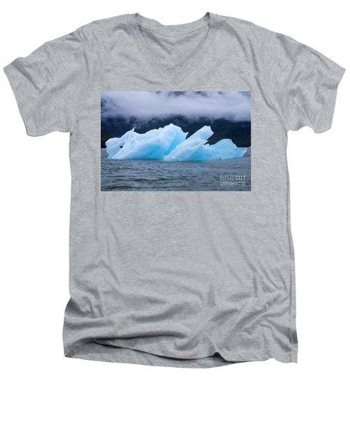 Blue Iceberg Men's V-Neck T-Shirt