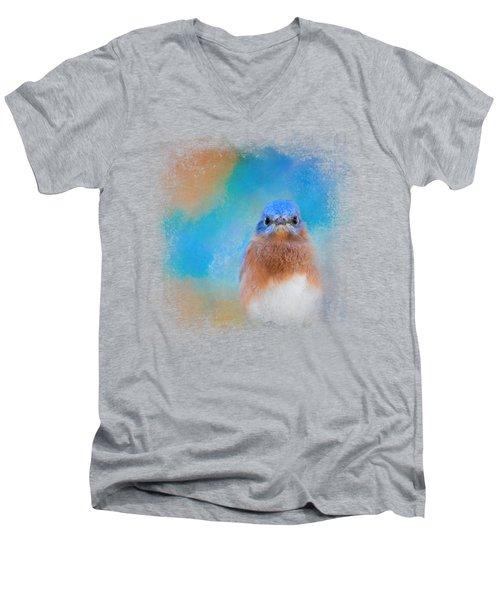 Blue Is Beautiful Men's V-Neck T-Shirt by Jai Johnson