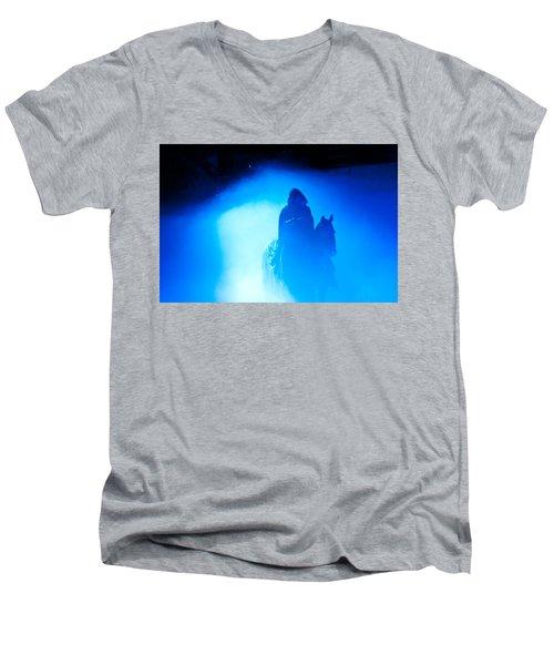 Blue Knight Men's V-Neck T-Shirt