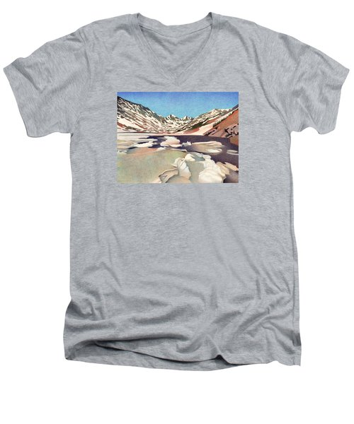 Blue Lakes Colorado Men's V-Neck T-Shirt