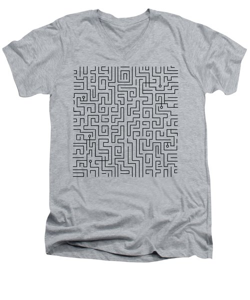 Blue Maze Men's V-Neck T-Shirt