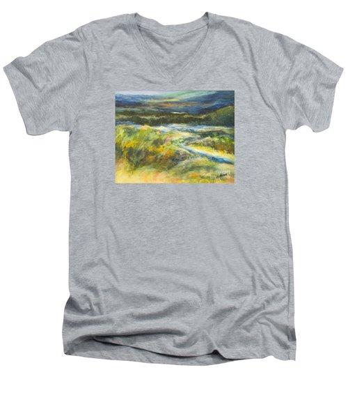 Blue Meadows Men's V-Neck T-Shirt