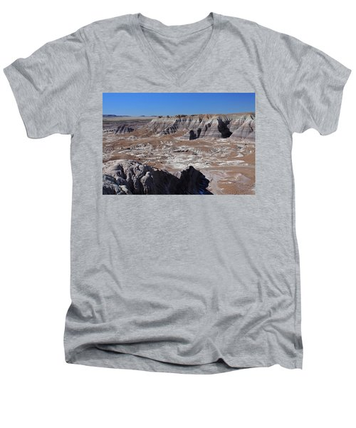 Men's V-Neck T-Shirt featuring the photograph Blue Mesa by Gary Kaylor