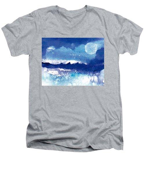 Blue Mohave Moon Men's V-Neck T-Shirt