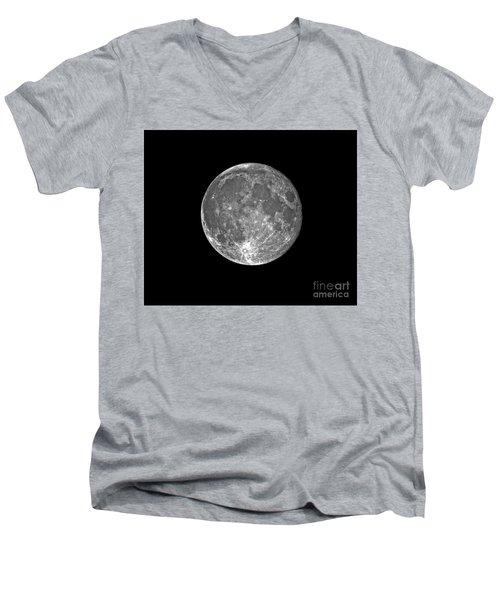 Blue Moon 07/31/2015 Men's V-Neck T-Shirt