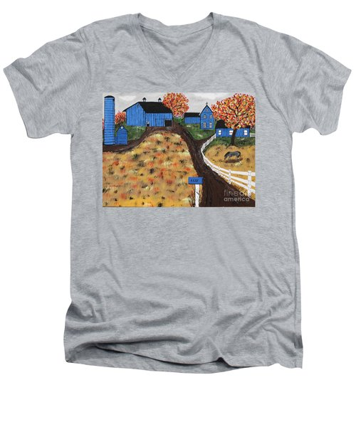 Blue Mountain Farm Men's V-Neck T-Shirt