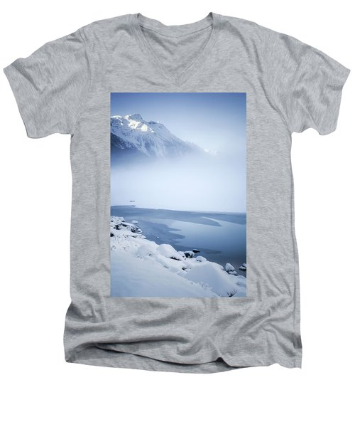 Blue Mountain Fog Men's V-Neck T-Shirt