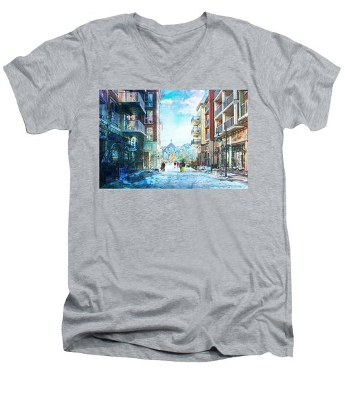 Blue Mountain Village, Ontario Men's V-Neck T-Shirt