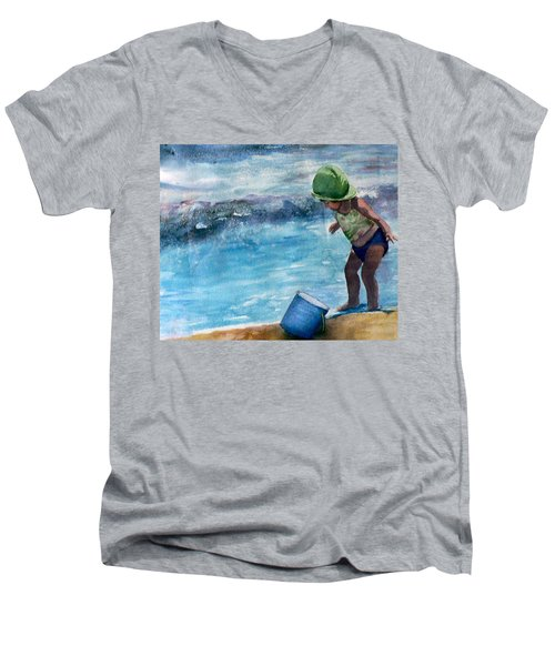 Blue Pail Men's V-Neck T-Shirt