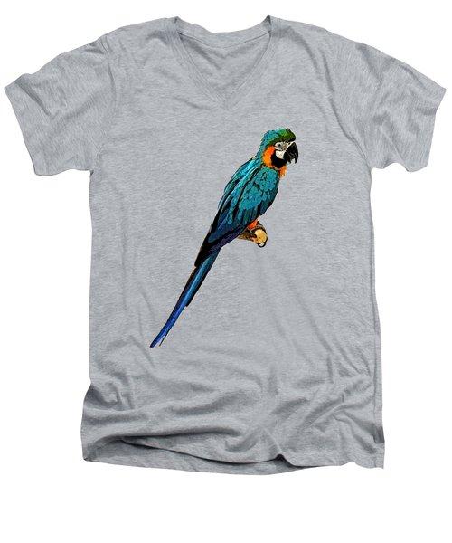 Blue Parrot Art Men's V-Neck T-Shirt