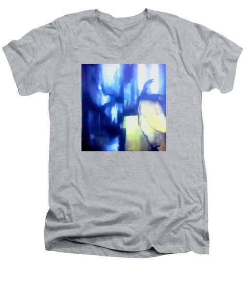 Blue Patterns Men's V-Neck T-Shirt
