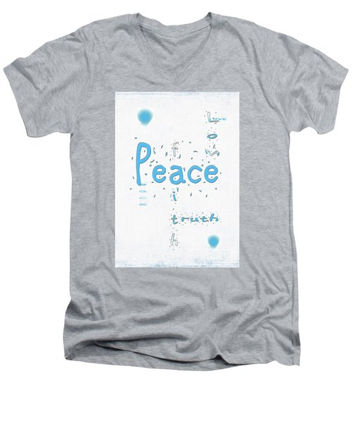 Blue Peace Men's V-Neck T-Shirt