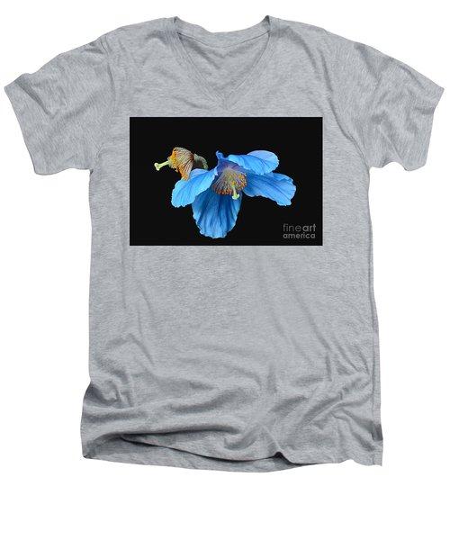 Blue Poppies Men's V-Neck T-Shirt