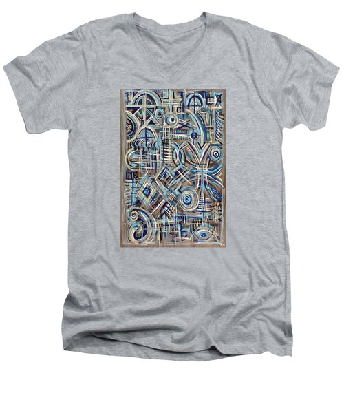 Blue Raucous Men's V-Neck T-Shirt