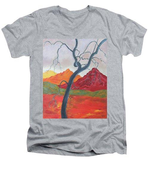 Blue Retama Men's V-Neck T-Shirt
