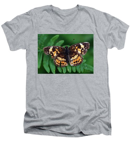Blue Ridge Butterfly Men's V-Neck T-Shirt by Kay Lovingood