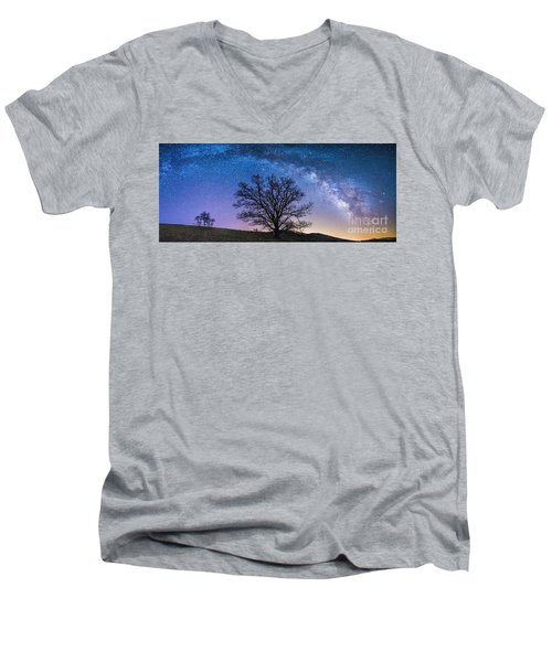 Blue Ridge Milkyway Men's V-Neck T-Shirt by Robert Loe