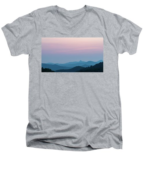 Blue Ridge Mountains After Sunset Men's V-Neck T-Shirt