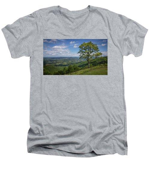 Blue Ridge Parkway Scenic View Men's V-Neck T-Shirt
