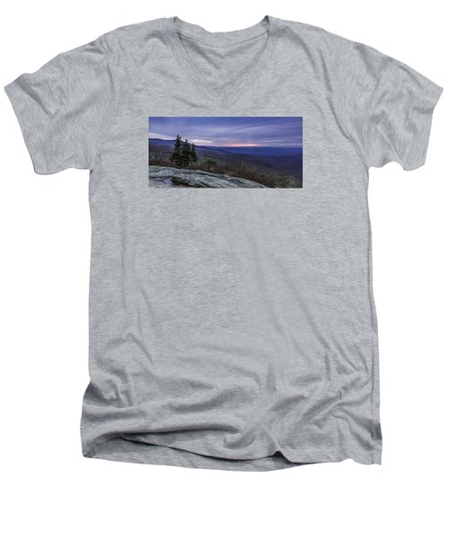 Blue Ridge Parkway Sunrise Men's V-Neck T-Shirt