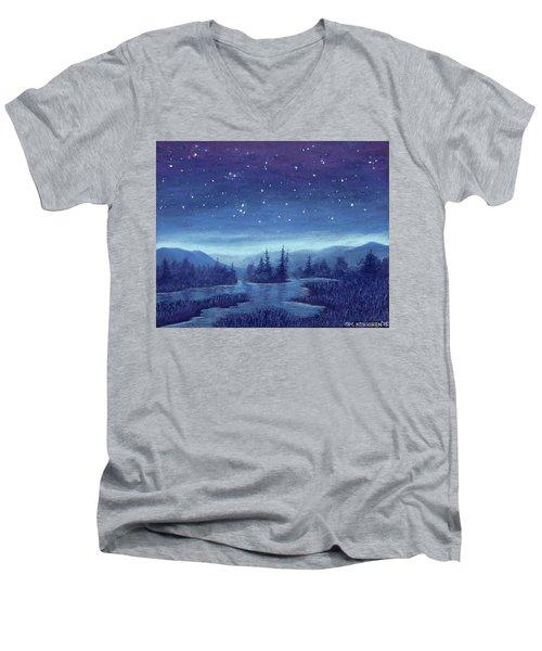 Blue River 01 Men's V-Neck T-Shirt