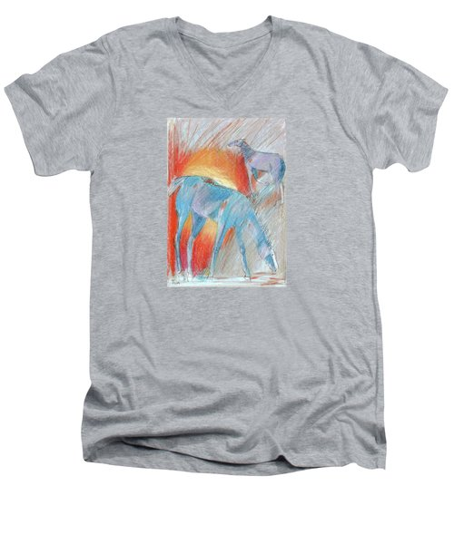 Blue Roans Men's V-Neck T-Shirt