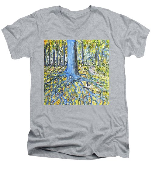 Blue Roots Men's V-Neck T-Shirt