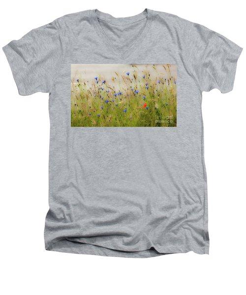 Blue Serenade Men's V-Neck T-Shirt